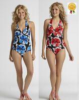 NEW Tropical Escape Womens Swimsuit Floral One Piece size 8 10 12 14 16