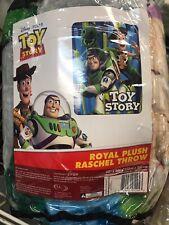 Disney Pixar Toy Story Woody, Buzz Lightyear, Rex Plush Throw Blanket Twin