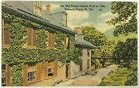 Postcard Old Harper House Built In 1780 Harper's Ferry West Virginia WV Vintage