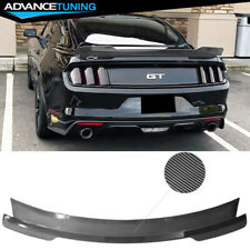 Fits 15 21 Ford Mustang Coupe Md Style Trunk Spoiler Wing Abs Carbon Fiber Print Fits Mustang