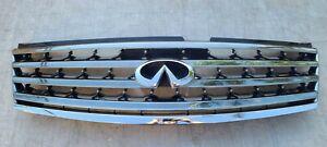 2006-2008 Infiniti M35 M45 OEM Front Upper Chrome Radiator Grille Mesh 1049