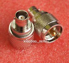 1X Adapter PL259 UHF plug male to BNC female jack RF connector straight
