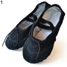 HK- Girl Child Adult Lady Canvas Ballet Dance Shoes Slippers Pointe Dance Gymnas