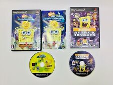 PS2 Spongebob 2 Game Lot Attack Toybots & Atlantis Squarepants