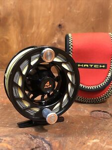 HATCH Finatic 4 Plus Black & Silver, With Line And Soft Case