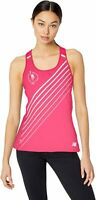 NWT New Balance Womens NYC Marathon Nb Ice 2.0 Printed Gym Tank Top Neon Pink XS
