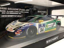 Lamborghini Gallardo LP600+ GT3. MINICHAMPS . 1/18 Scale. Boxed .