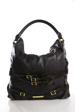 Burberry Brown Leather Bridle Hobo Handbag