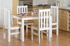 Oak Living Room Table & Chair Sets with 5 Pieces