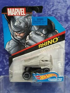 Marvel RHINO 1/64 Scale Die-Cast Character Cars MOC
