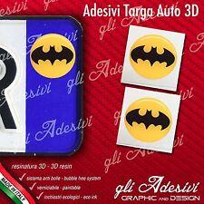 2 Adesivi Stickers bollino 3D Resinato targa Auto Moto BATMAN