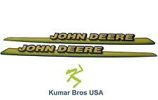 New John Deere LH & RH Upper Hood Decal Set 325 335 345 355D