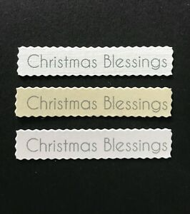Christmas Blessings Deckled edged banners /card toppers embellishment pk10