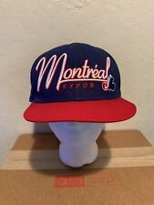 Montreal Expos New Era Snapback Fit Hat Cap MLB Cooperstown Collection Blue EUC