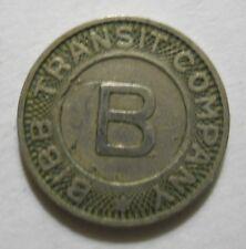 Bibb Transit Company (Macon, Georgia) transit token - GA580D