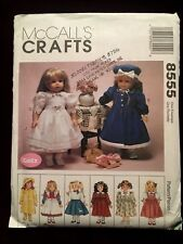 """McCall's Crafts Uncut Pattern 8555 Gotz American Girl 18"""" Doll Clothing OOP"""
