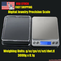 3000g 0.1g Digital Scale Precision Jewelry Electronic Balance Weight Pocket Gram