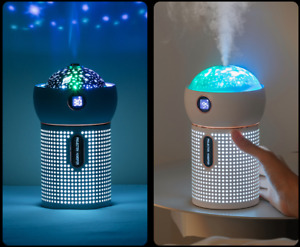 3 in 1 Humidifier Galaxy Projector Night Light- Silent & Romantic