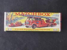 VINTAGE MATCHBOX KING SIZE MERRYWEATHER FIRE ENGINE K-15 MINT ORIGINAL BOX NRMT