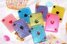 Candycabsuk 4 X Carte da Gioco Scherzo Magico Poker Resina i Cabochon Fai da te KIT MIX
