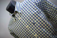 38948 Mens Brooks Brothers 346 Slim Fit Long Sleeve Plaid Dress Shirt Sz Large