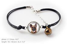 German Shepherd. Bracelet for people who love dogs. Photojewelry. Handmade. CA