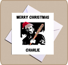 Personalised Walking Dead Christmas Card - Festive Negan and Lucille