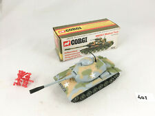 VINTAGE CORGI TOYS # 902 M60A1 MEDIUM TANK WITH SHELLS US ARMY MILITARY DIECAST