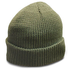 Heavyweight Ultra Warm Wool Military Army Commando Watch Cap Beanie Hat Green