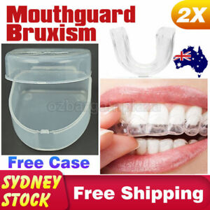 Teeth Grinding Bruxism Mouth Guard X2 MouthGuard Sleep Dental Night Protector