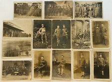 Lot of 14 Antique Real Photo RPPC Postcards WWI United States Soldiers~Army Band