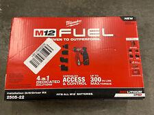 Brand New Milwaukee-2505-22 M12 FUEL Installation Drill/Driver Kit X4 Attachment