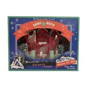 Christopher Radko Shiny Brite Paper House Sparkle Town Balsam Fir Blvd IN BOX