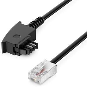 1m Router Kabel Telefon Kabel TAE-F Stecker auf RJ45 Stecker DSL VDSL Kabel