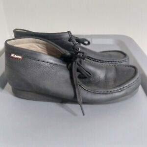 Clarks Originals Wallabees Men's Size 11.5M Shoes Black Beeswax Leather Chukkas