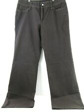 "Women's a.n.a Brown stretch Pants Size 12  Inseam 31.5"" flare legs"