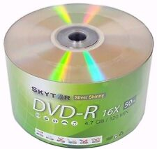 600 Blank SKYTOR DVD-R DVDR 16X Silver Shiny Top 4.7GB Media Disc - Expedited
