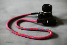B model upgrade cool red climbing rope 10.5mm handmade camera neck strap.