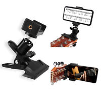 Guitar Headstock Mobile Phone Holder Bracket Stand Mobile Phone Clip Clamp