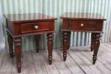 A Solid Large Pair of Mahogany Bedside Cabinets - Bedsides - 65cm High