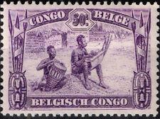 Belgian Congo African Culture Ethnicities Music Tribal Drummers 1922 stamp MLH