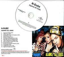 N-DUBZ Against All Odds 2009 UK watermarked & numbered 14-track promo test CD