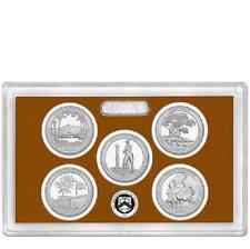 2013-S  CLAD  NATIONAL PARKS  PROOF QUARTER SET  ( 5 coins in plastic case )