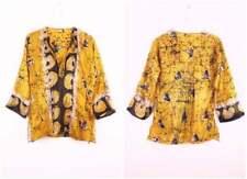 Vintage 70s Deadstock India silk tunic Indian Hippie shirt Batik print silk top