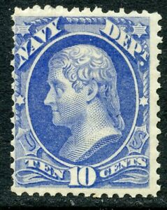 1873 10c NAVY OFFICIAL MINT O40