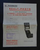 Publicité photographie Cuve REALT PHOTO agitateur  camera catalog Katalog
