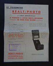 Publicité photographie Cuve REALT PHOTO agitateur  camera catalog Katalog