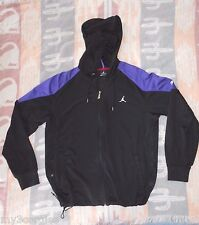 Air Jordan Dri-Fit Zip Hoodie Jacket Men's Size Large Black Purple Drawstrings