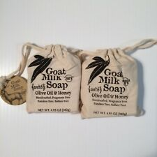 Trader Joe's Goat Milk Soap with Olive Oil & Honey 4.93 oz, 2 Bars