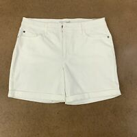 Riders by Lee Indigo Women's Size 14 Average White Rolled Cuff Mid Rise Shorts